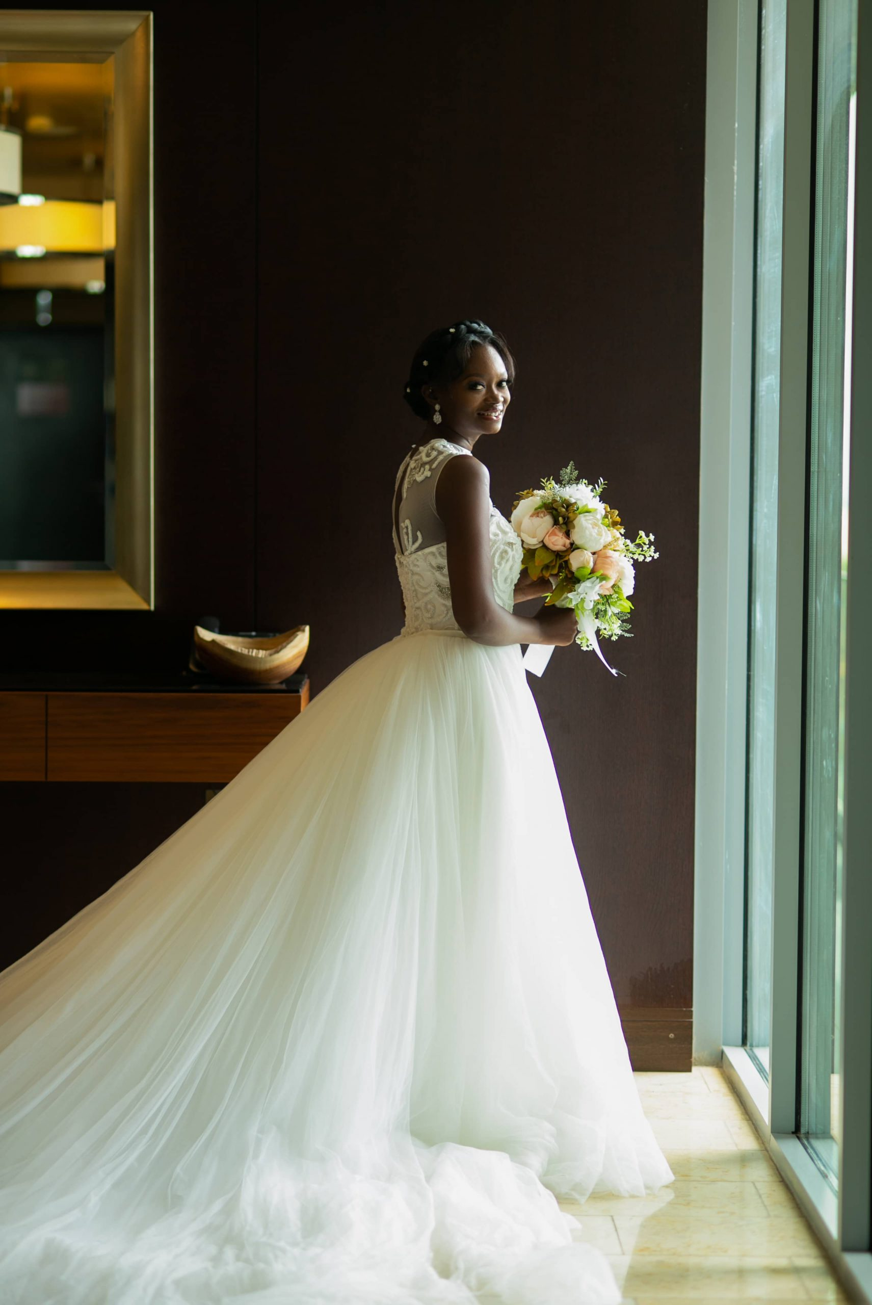Bride with Bouquet-Full Pic